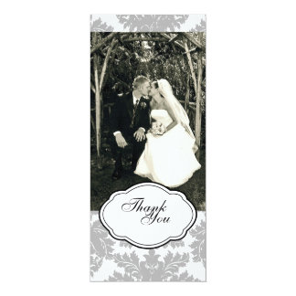 Double-Sided Photo Card: Black & White 10 Cm X 24 Cm Invitation Card