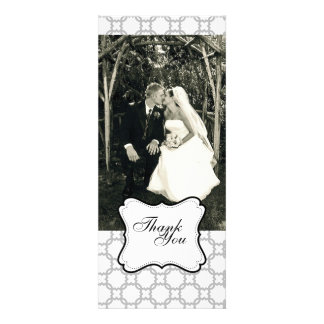 Double-Sided Photo Card Black White Invite