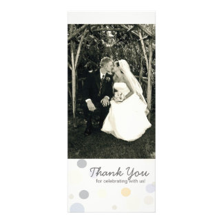 Double-Sided Photo Card Champagne Bubbles Custom Invitation