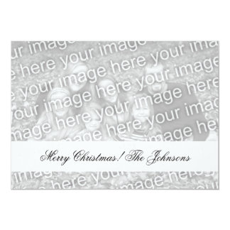 Double sided photo Christmas cards with two images 13 Cm X 18 Cm Invitation Card