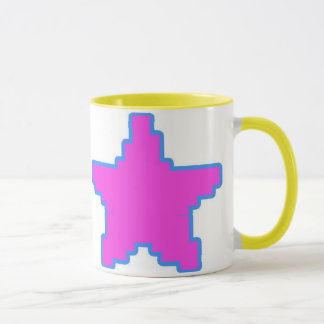 Double Sided Pixel Star Mug