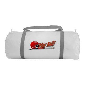 Double Sided Play Ball - Baseball Duffle Bag Gym Duffel Bag