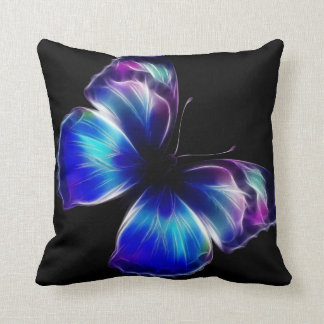 Double Sided Purple Butterfly American MoJo Pillow Throw Cushions