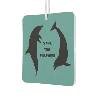 Double Sided Save the Dolphins Car Air Freshener