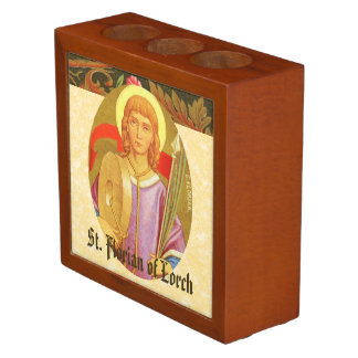 Double-Sided St. Florian of Lorch (PM 03a) Pencil Holder