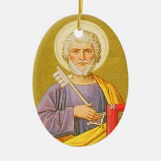 Double-Sided St. Peter the Apostle (PL 07a) Ceramic Oval Decoration