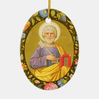 Double-Sided St. Peter the Apostle (PM 07) Ceramic Oval Decoration