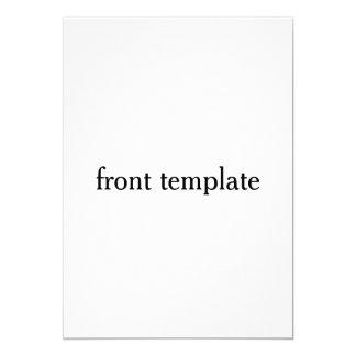 double sided template 13 cm x 18 cm invitation card