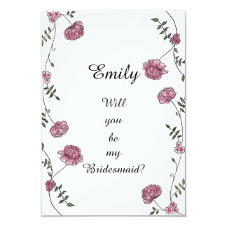 Double sided Will you be my bridesmaid card 9 Cm X 13 Cm Invitation Card