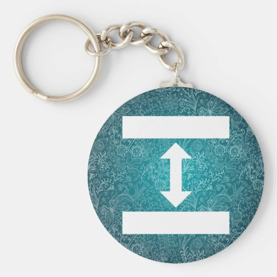 Double Sides Minimal Basic Round Button Key Ring
