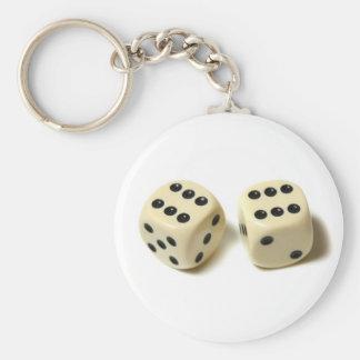 Double Six Key Ring