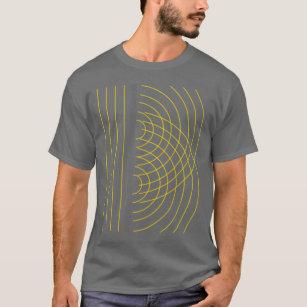 53f420a12a90 Double Slit Light Wave Particle Science Experiment T-Shirt