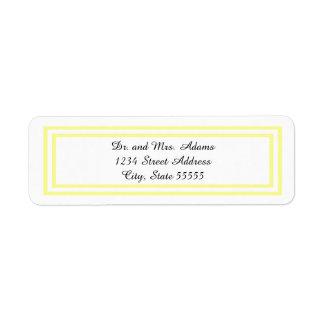 Double Soft Yellow Trim - Address Label