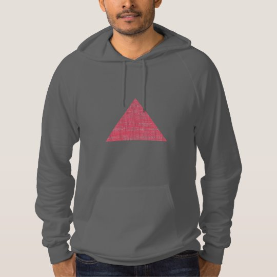 Double Stamped Pink Triangle Hoodie