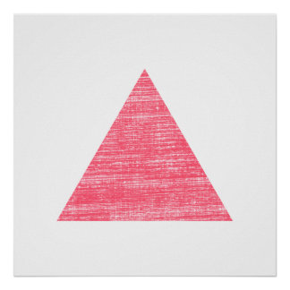 Double Stamped Pink Triangle Poster