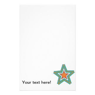 Double star illustration personalised stationery
