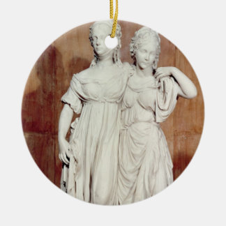 Double statue of the Princesses Louise (1776-1810) Christmas Ornament
