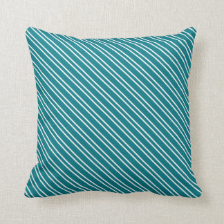 Double Stripe No Monogram Any Color Throw Pillow