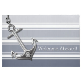 Double Striped Anchor Doormat
