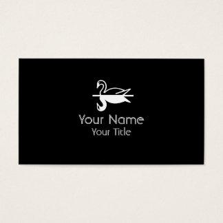 Double Swan black white custom business cards