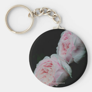 Double Take Pink Roses Flower Keychain Keyring