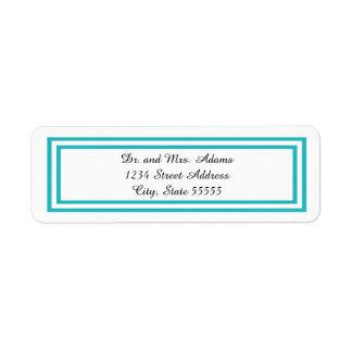 Double Teal Trim - Address Label