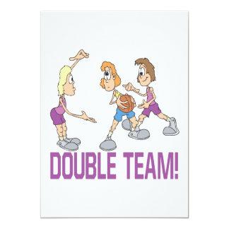Double Team 13 Cm X 18 Cm Invitation Card