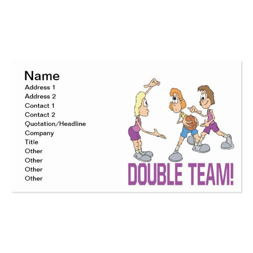Double Team Business Card Templates