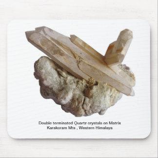 Double Terminated Quartz Crystals Mouse Pad