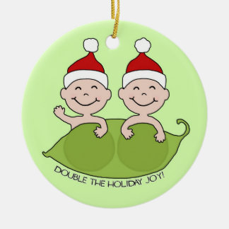 DOUBLE THE HOLIDAY JOY! CHRISTMAS ORNAMENT