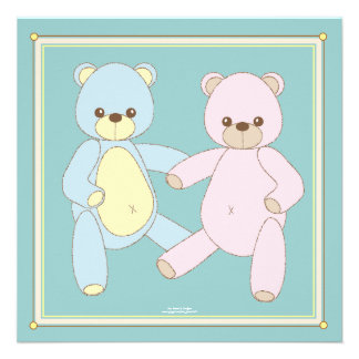 Double the Joy Twin Boy Girl Shower Invitation