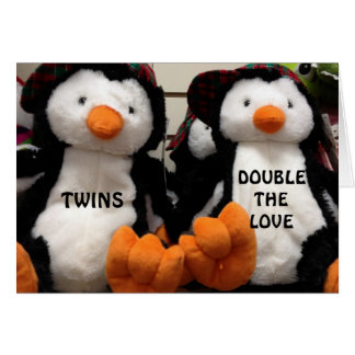 """DOUBLE THE LOVE WHEN IT IS MY """"TWIN'S BIRTHDAY"""" GREETING CARD"""