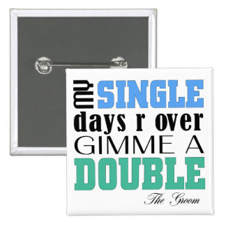 Double Time Groom 15 Cm Square Badge