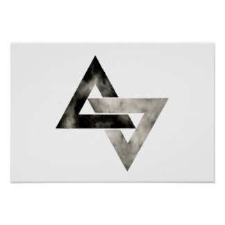 Double Triangles . Modern . Minimal . Geometric Poster