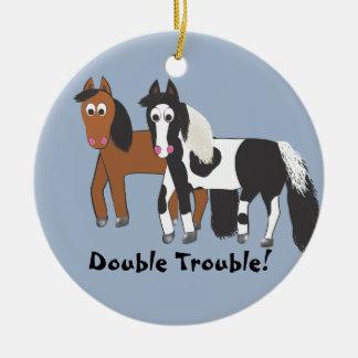 Double Trouble! Christmas Ornament