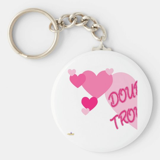 Double Trouble Pink Hearts Part 1 Key Ring