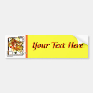 Double Tulip: Yellow and Red Bumper Sticker