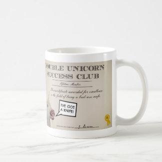 Double Unicorn Success Club Mug.  Drink awesome. Basic White Mug