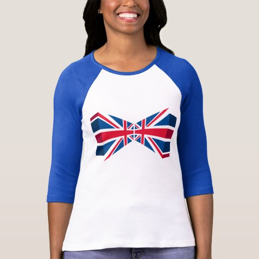 Double Union Jack, British flag in 3D T Shirt