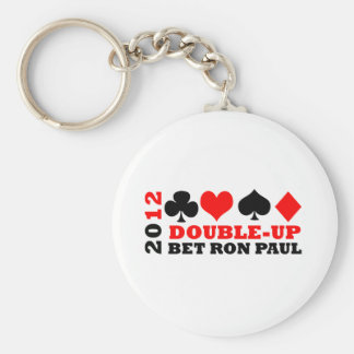Double-Up Basic Round Button Key Ring