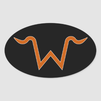 Double W Brand Oval Decal Stickers