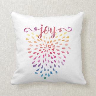 Double watercolor JOY Cushion
