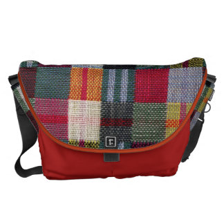 Double weave checks courier bags