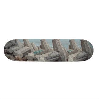 Double Whale Tale  Cray Skateboard by WABStreetArt