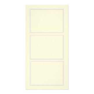 Double White Shadowed Border on Gardenia Cream Picture Card