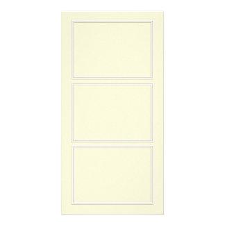 Double White Shadowed Border on Gardenia Cream Photo Card