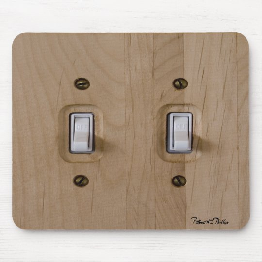 Double Wooden Switch Plate Mouse Mat