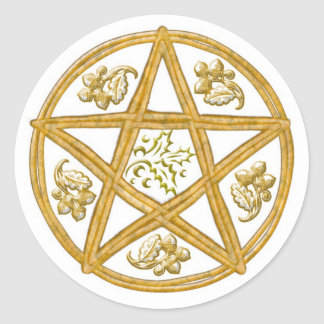 Double Woven Pentacle - Sticker