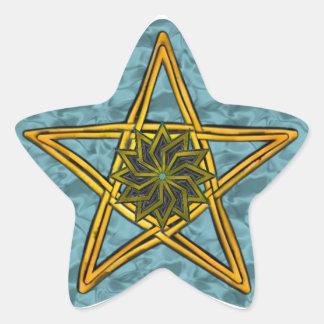 Double Woven Wicker Pentagram 3 - Sticker
