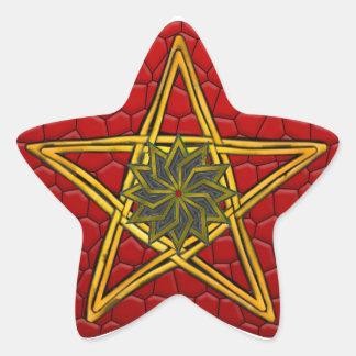 Double Woven Wicker Pentagram #4 - Sticker